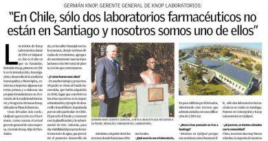 Knop Laboratorios saluda a Quilpué en su  aniversario